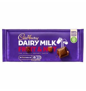 Tablette de chocolat Cadbury Dairy Milk Fruit & Nut