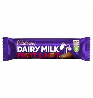 Barre chocolatée Cadbury Dairy Milk Fruit & Nut