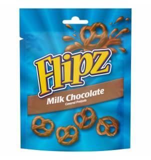 Bretzels au chocolat au lait Flipz - Flipz Milk Chocolate Coated Pretzels